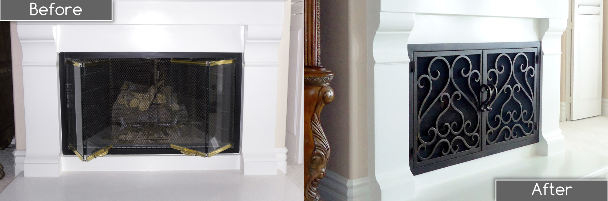 Sequoia 3 Fireplace Door Before and After