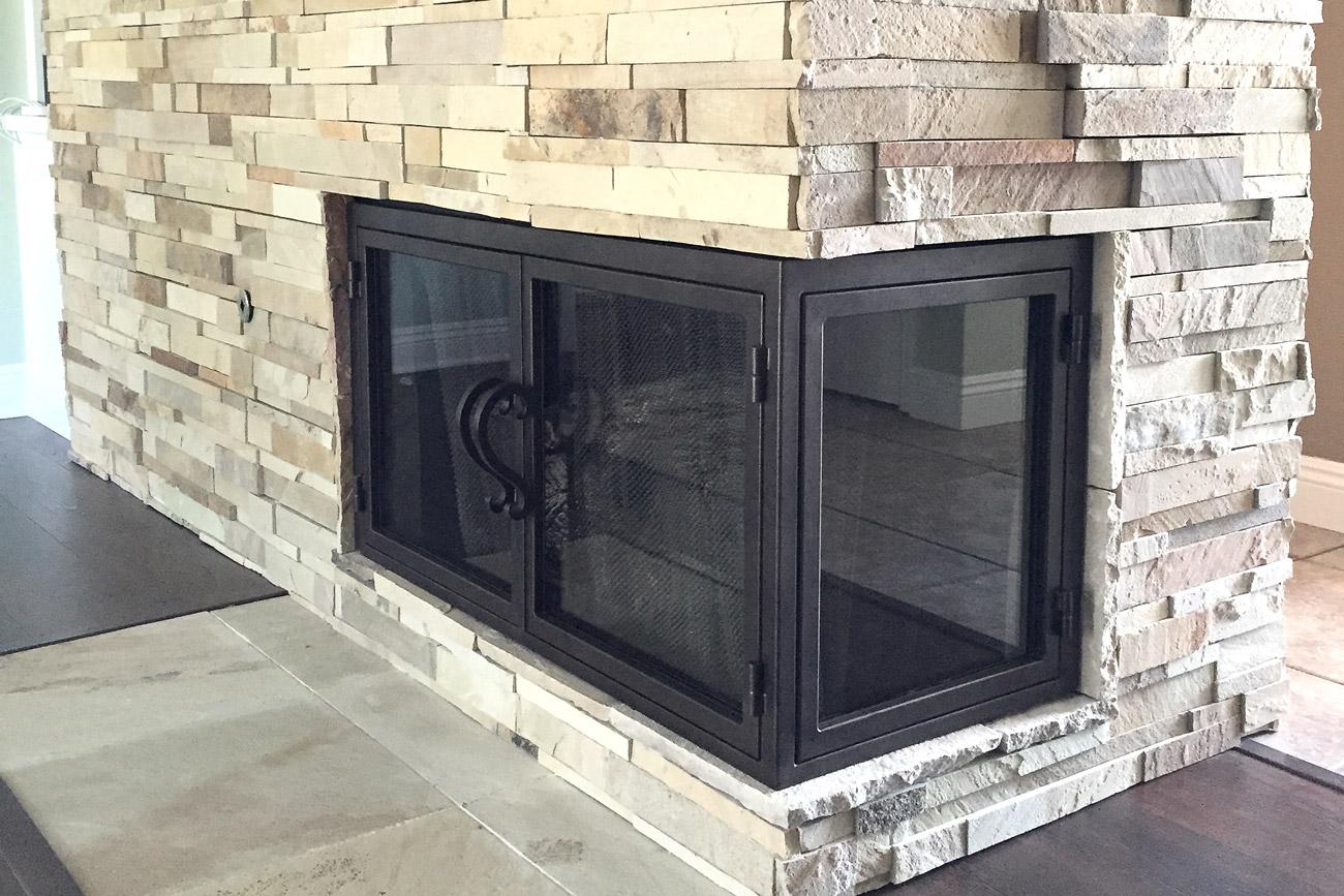 Sky 24 Fireplace L Shape Door