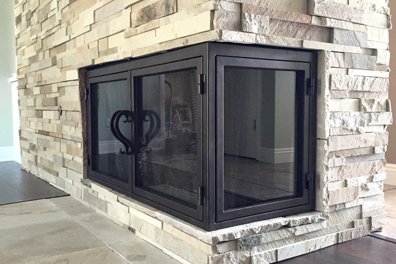 Sky 24 L Shape Fireplace Door