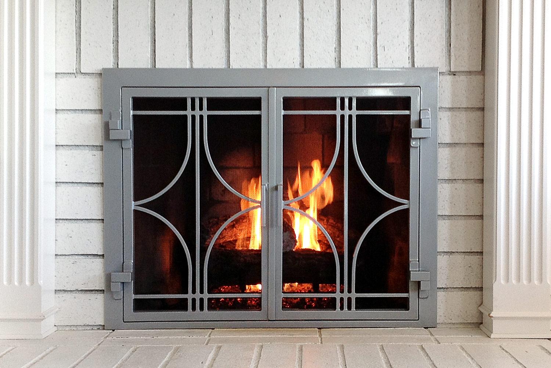 Stella 50 Fireplace Door Flame