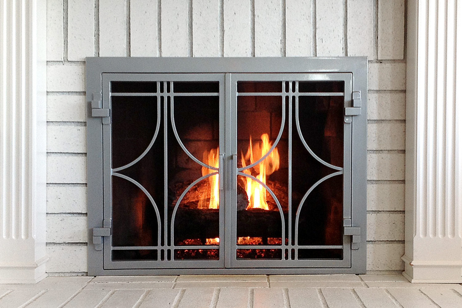 Stella 50 Fireplace Door Flame