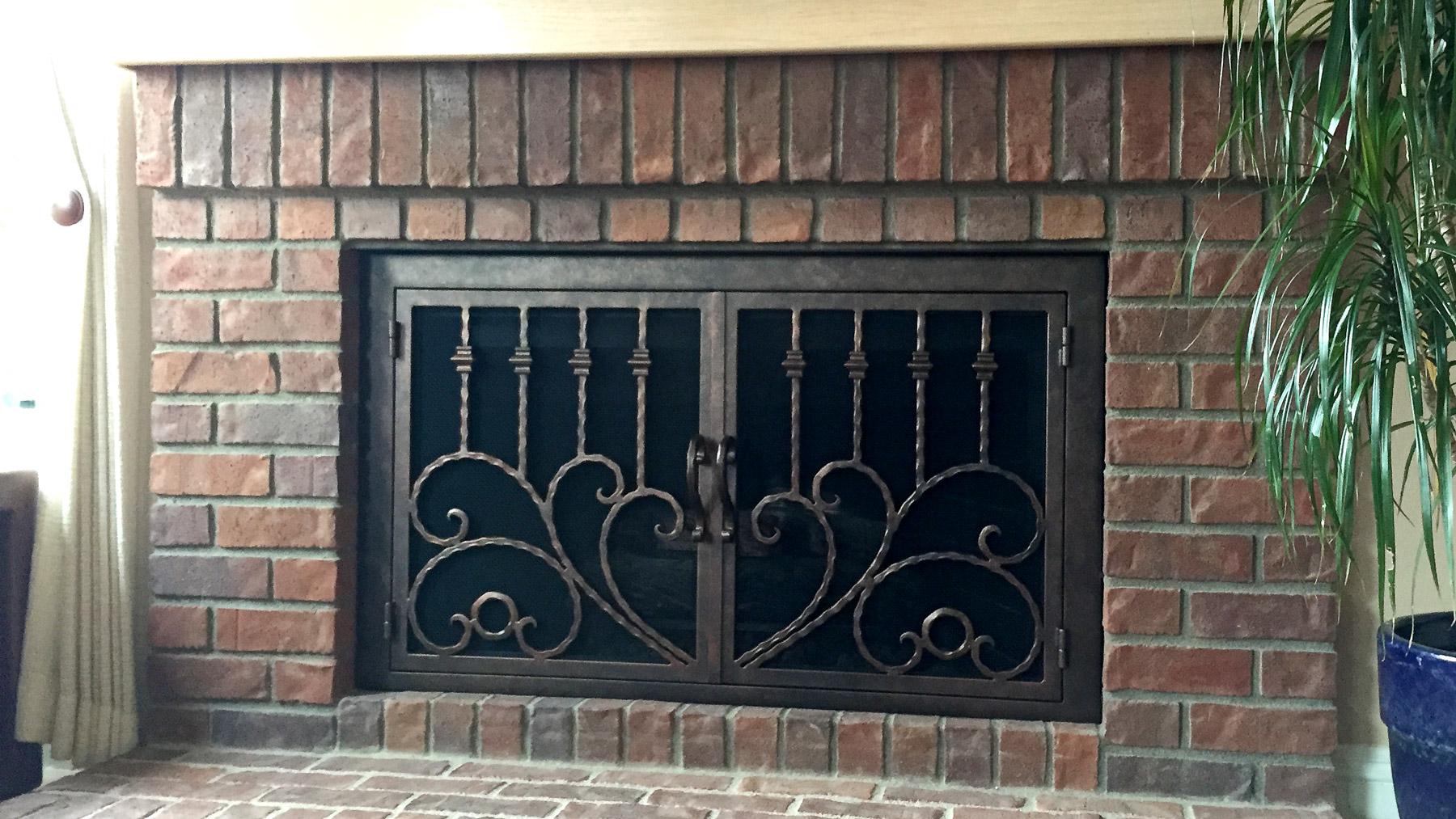 The Clad 34 Fireplace Door