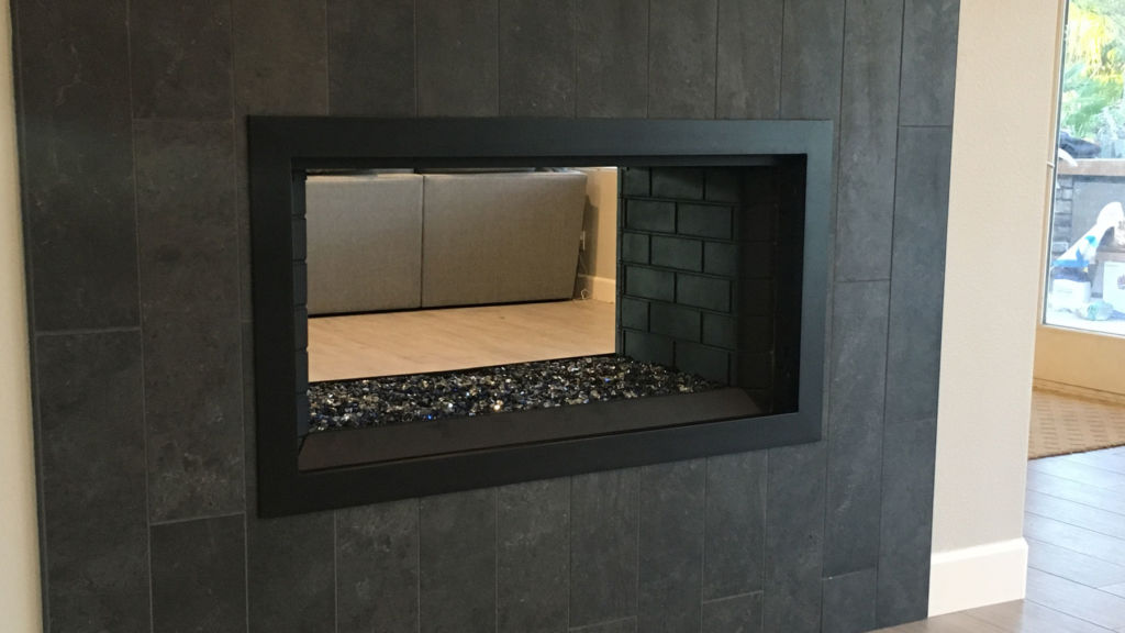 Frame Only - Simple Fireplace Door - Side